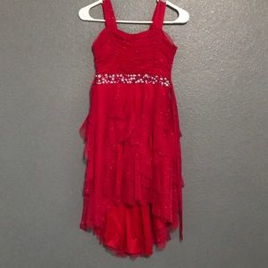 High low red sparkly fancy dress!!